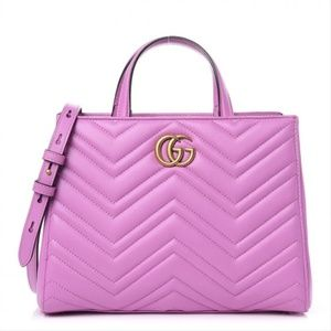 Gucci GG Marmont Top Handle Bag Candy Calfskin